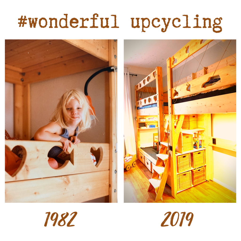 wonderful Upcycling Hochbett