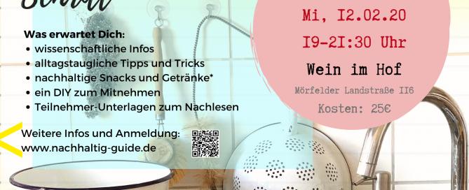"""Workshop """"Nachhaltig leben"""" am 22.02.2020"""