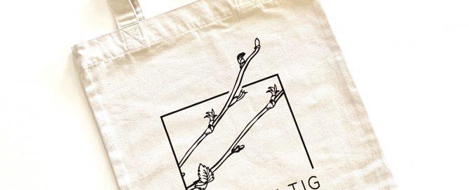 Jutetasche mit Logo von Nachhaltig Guide