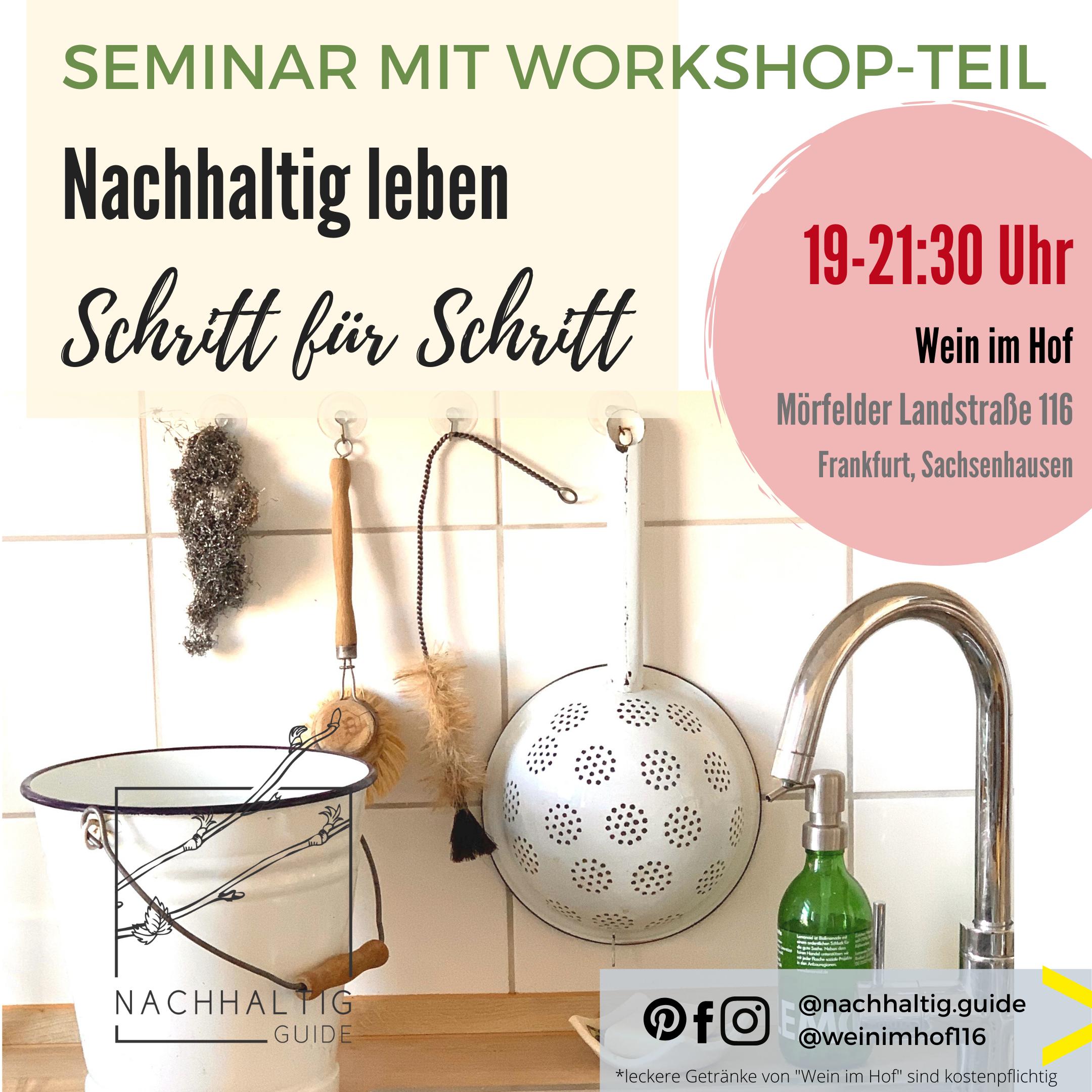 Nachhaltig leben – Starter Workshops in Frankfurt