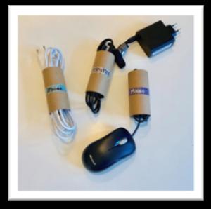 Kabelsortierer aus Klopapierrollen