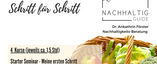 """4-teilige Online-Seminar-Reihe """"Nachhaltig leben - Schritt für Schritt"""""""