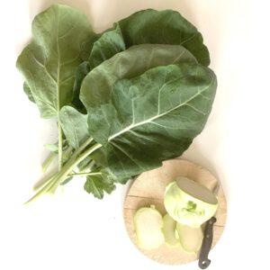 Kohlrabi und seine Blätter