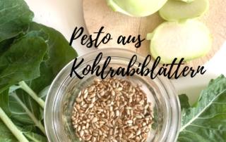 Pesto aus Kohlrabiblättern