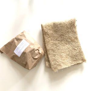 Mineralmischung und Hanfmatte für Wurmkiste